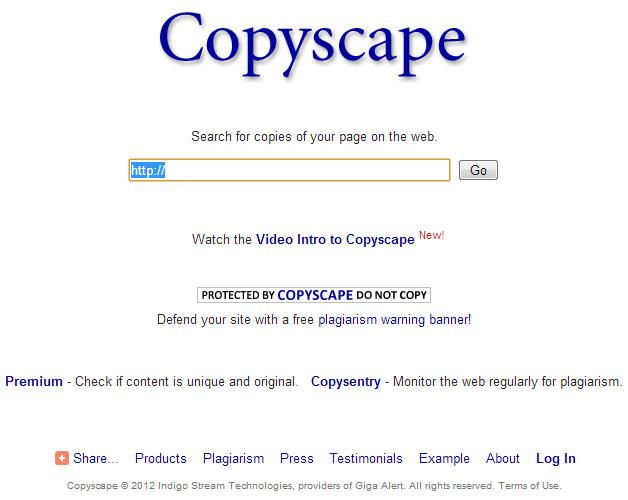 Copyscape (4/6) - Plagiarism Checker software, reviews