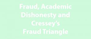 Fraud Academic Dishonesty
