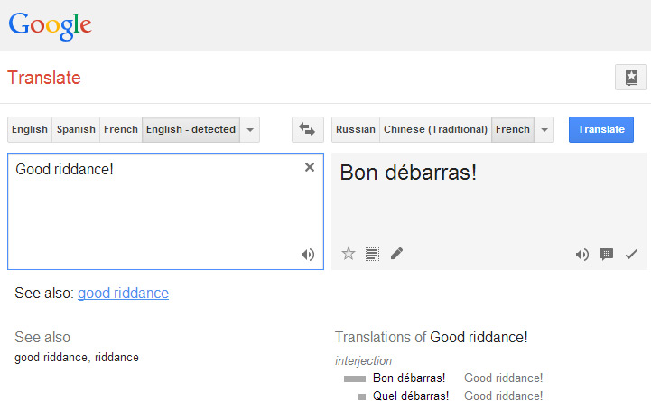 Google translate used for plagiarism