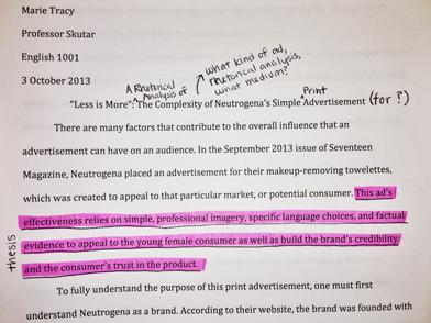 Printed essay
